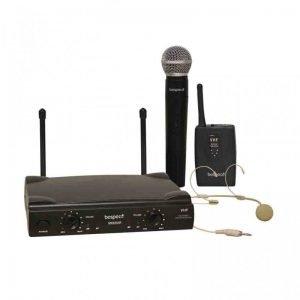 doppio radiomicrofono con headset