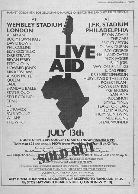 Queen Live Aid 1985: il Sold Out!
