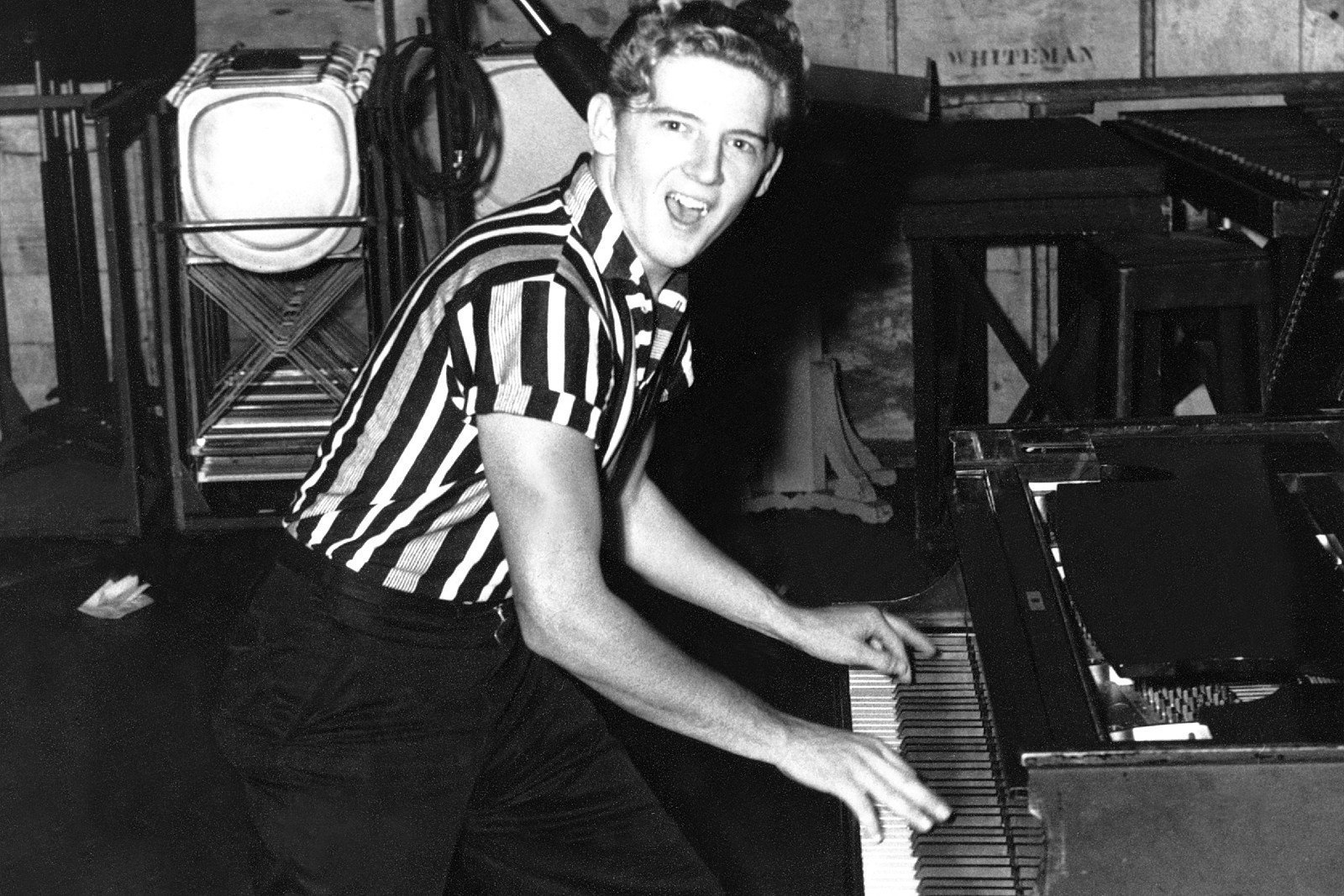 Jerry Lee Lewis al pianoforte