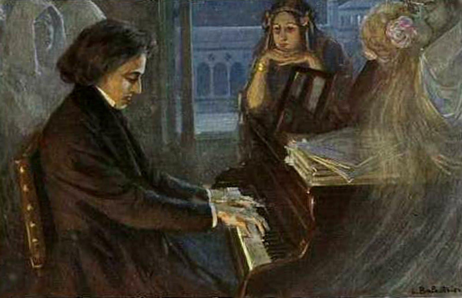 ritratto di Chopin al pianoforte