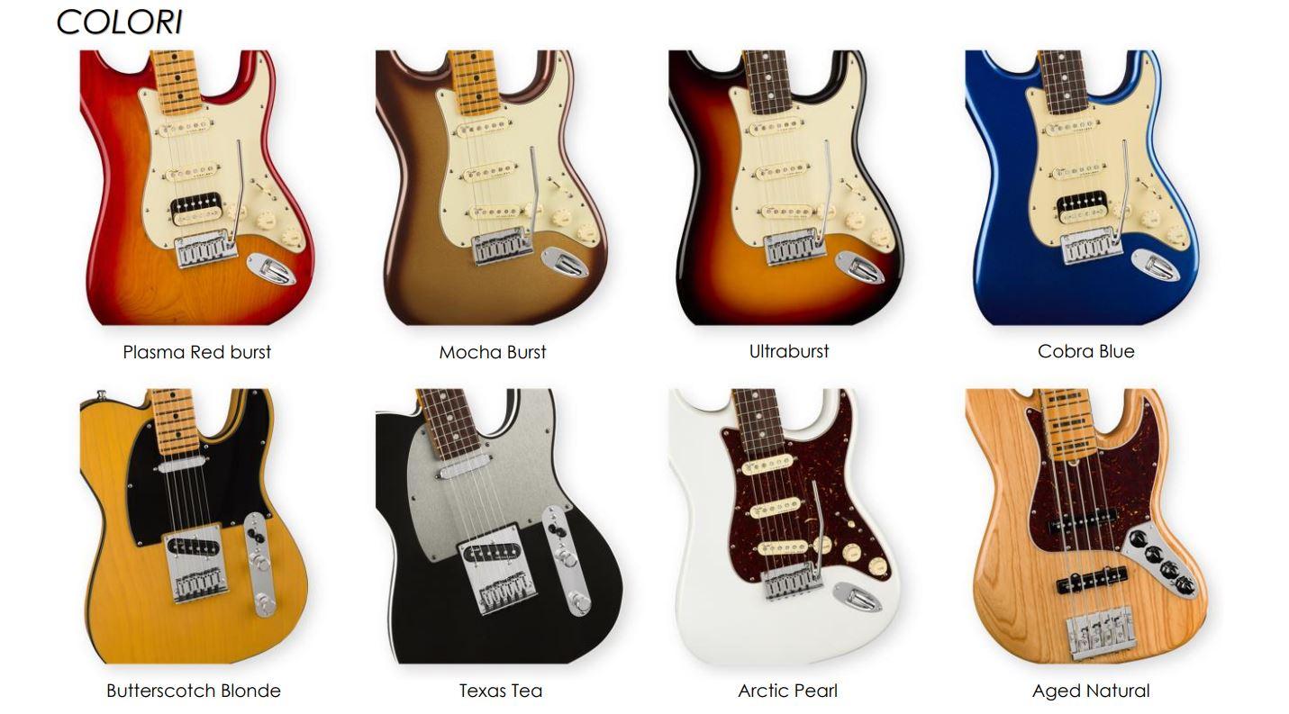 Fender Serie American ULTRA: la gamma dei colori